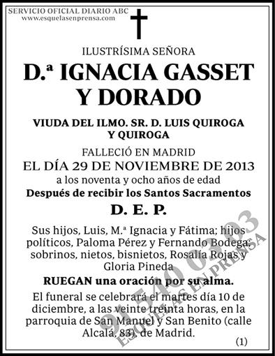 Ignacia Gasset y Dorado
